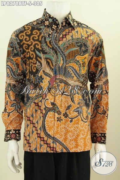Jual Online Batik Mewah Full Furing Harga Murah, Pakaian Batik Lengan Panjang Motif Berkelas Kombinasi Tulis Hanya 300 Ribuan [LP8278BTF-S]