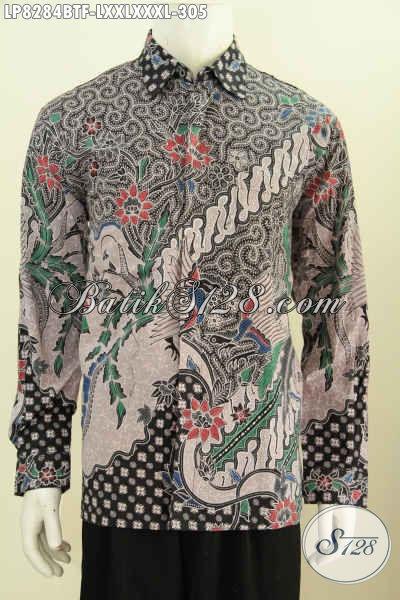 Jual Baju Batik Pria Dewasa, Hem Batik Elegan Motif Terkini Proses Kombinasi Tulis, Baju Batik Istimewa Lengan Panjang Full Furing Harga 305 Ribu Saja [LP8284BTF-XXL]