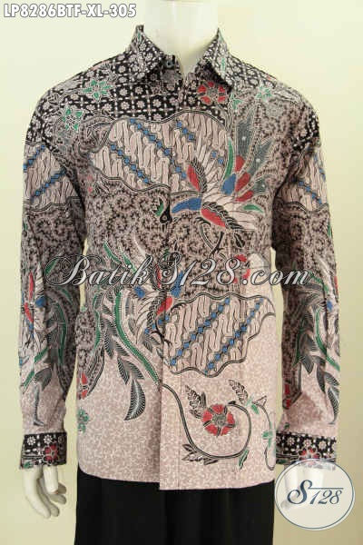 Baju Hem Batik Solo Terkini, Baju Batik Istimewa Untuk Penampilan Berkelas Model Lengan Panjang Full Furing Motif Klasik Kombinasi Tulis [LP8286BTF-XL]