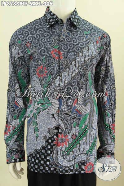Busana Batik Mewah Dan Istimewa Dengan Harga Biasa, Pakaian Batik Full Furing Halus Proses Kombinasi Tulis Lengan Panjang Untuk Kerja Dan Rapat [LP8288BTF-S]