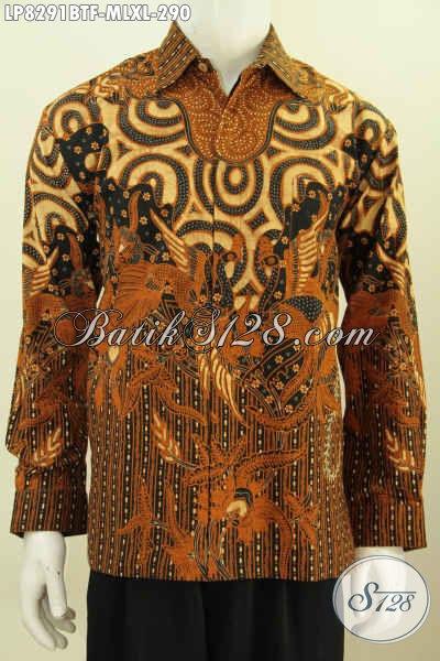 Busana Batik Solo Klasik Halus Kwalitas Istimewa Hanya 290K, Pakaian Batik Kombinasi Tulis Lengan Panjang Full Furing Tampil Menawan [LP8291BTF-XL]