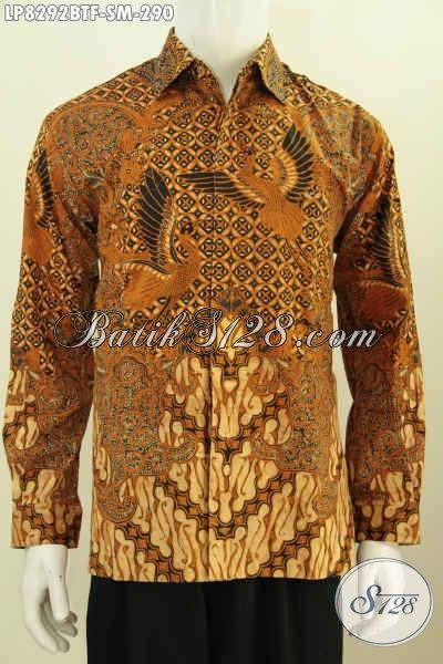 Pakaian Batik Modern Halus Lengan Panjang Full Furing Bahan Adem Motif Klasik Kombinasi Tulis Hanya 200 Ribuan Saja [LP8292BTF-S]