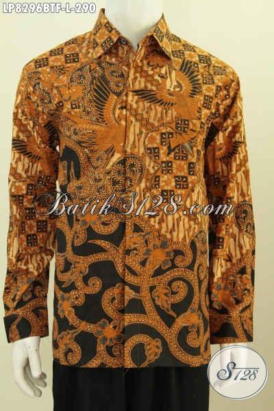 Hem Batik Solo Halus Motif Klasik, Pakaian Batik Istimewa Lengan Panjang Pake Furing Proses Kombiasi Tulis Untuk Kerja Dan Rapat [LP8296BTF-L]
