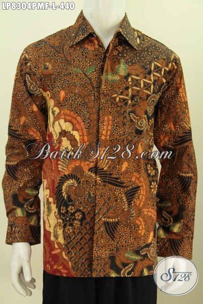 Produk Baju Batik Elegan Lengan Panjang Full Furing Halus Proses Kombinasi Tulis Motif Klasik Harga 440 Ribu [LP8304PMF-L]