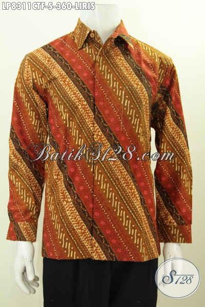 Hem Lengan Panjang Klasik Motif Liris, Pakaian Batik Solo Halus Full Furing Bahan Adem Proses Cap Tulis Di Jual Online 300 Ribuan [LP8311CTF-S]