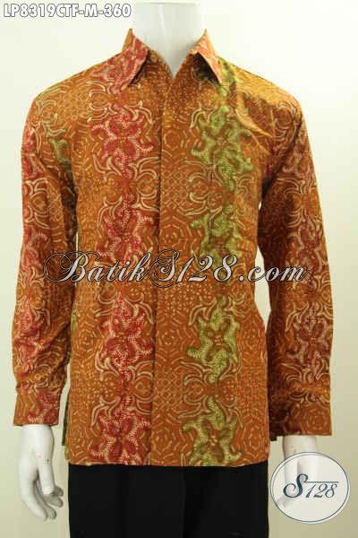 Sedia Batik Hem Elegan Mewah, Pakaian Batik Full Furing Motif Klasik Cap Tulis, Tampil Gagah Berwibawa, Size M