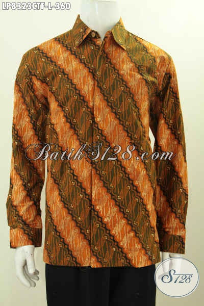 Jual Batik Solo Motif Parang Nan Elegan, Pakaian Batik Istimewa Bahan Halus Proses Cap Tulis, Cocok Buat Rapat Dan Kondangan, Size L