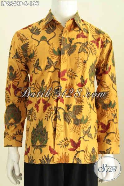 Baju Batik Lengan Panjang Untuk Pria, Kemeja Batik Halus Motif Terkini Proses Printing Hanya 130 Ribuan [LP8349P-S]