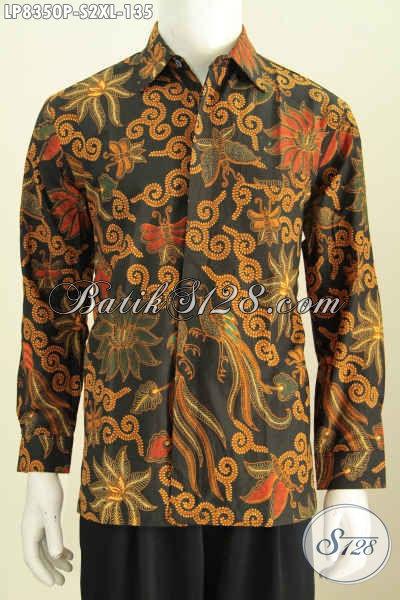 Hem Batik Bagus Murmer, Kemeja Lengan Panjang Elegan Proses Printing Motif Bagus Harga 135K, Size S