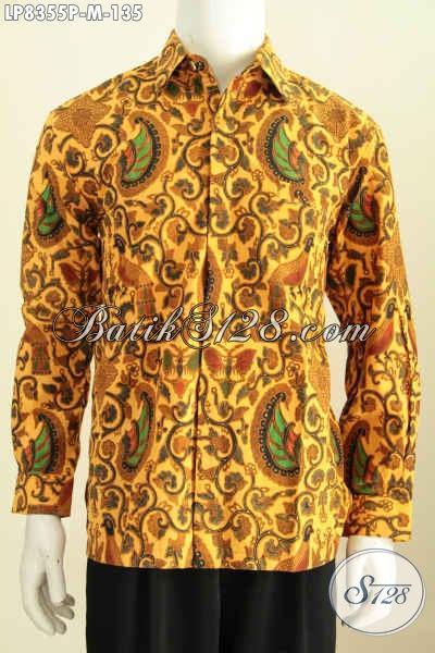 Baju Batik Lengan Panjang Murah Kwalitas Mewah, Hem Batik Klasik Berkelas Yang Membuat Pria Tampil Mempesona [LP8355P-M]