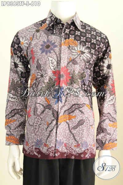 Hem Batik Premium, Baju Batik Mewah Lengan Panjang Full Furing Motif Klasik Tulis Asli Harga 600 Ribuan [LP8363TF-S]