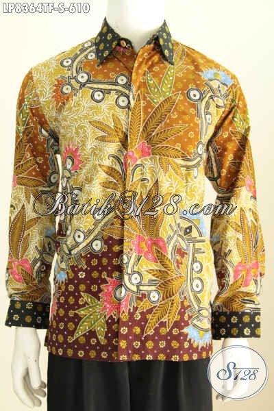 Model Baju Batik Lengan Panjang Pria 2018 Hem Batik Premium Full