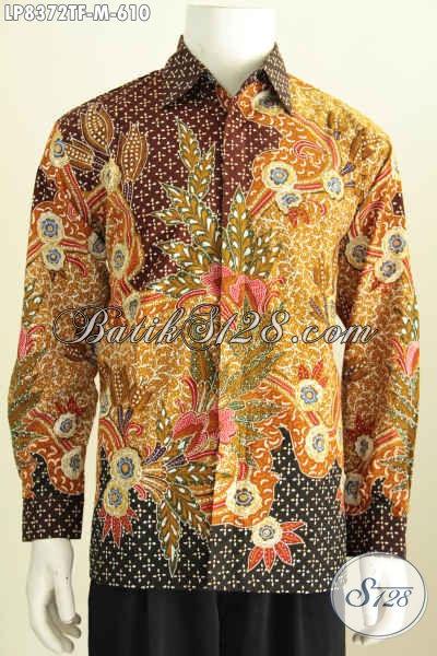 Model Baju Batik Pria Lengan Panjang Motif Klasik Busana