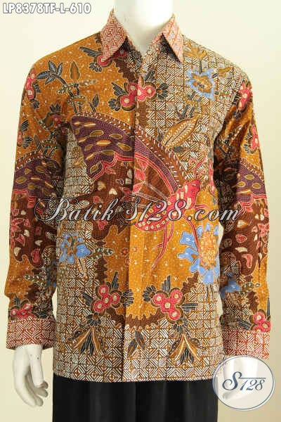 Produk Hem Batik Solo Premium, Busana Batik Mewah Halus Full Furing Model Lengan Panjang Motif Trend 2017 Proses Tulis, Size L