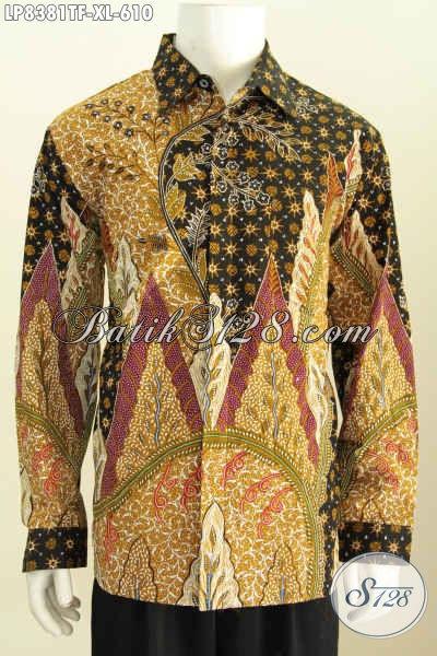 Baju Batik Tulis Pria Lengan Panjang Hem Batik Premium