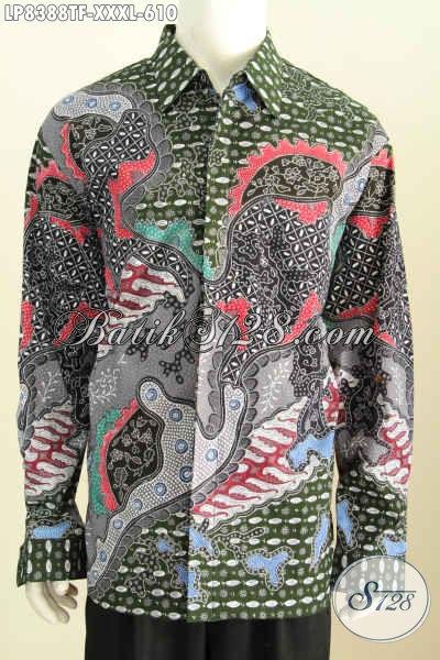 Jual baju batik pria ukuran besar model lengan panjang Jual baju gamis untuk pria