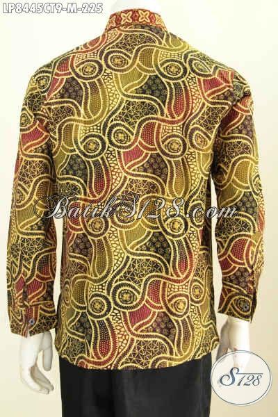 Baju Batik Pria Online Harga Terjangkau, Hem Batik Halus Berkelas Model Terkini Motif Bagus Proses Cap Tulis Harga 225K ModelLengan Panjang [LP8445CT-M]