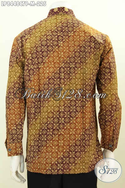 Produk Pakaian Batik Terbaru, Hem Batik Cowok Lengan Panjang Halus Berkelas Motif 2018 Proses Cap Tulis Di Jual Online 225 Ribu [LP8448CT-M]