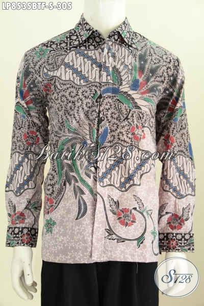 Model Baju Batik Pria Terbaru 2017 Lengan Panjang Hem Batik
