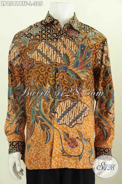 Hem Lengan Panjang Klasik Buatan Solo, Baju Batik Full Furing Proses Kombinasi Tulis, Elegan Untuk Kondangan Dan Rapat Tampil Menawan [LP8541BTF-L]