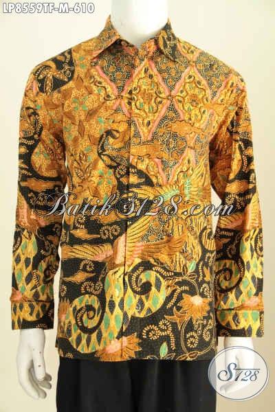 Model Baju Batik Lengan Panjang Untuk Pria Daleman Full Furing, Hem Batik Tulis Mewah Halus Bikin Penampilan Makin Percaya Diri [LP8559TF-M]