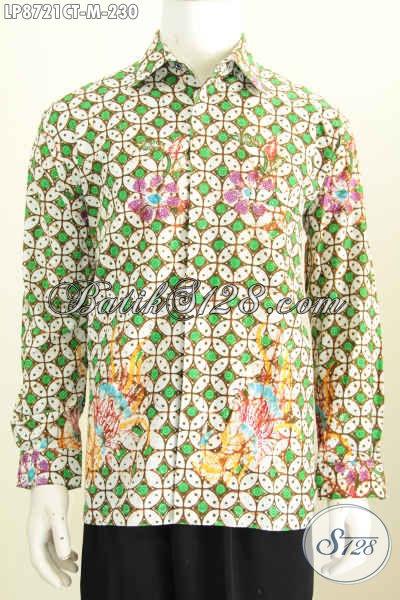 Batik Hem Elegan Motif Kawung Dengan Sentuhan Warna Modern Model Lengan Panjang, Busana Batik Pria Muda Untuk Terlihat Gagah Berwibawa [LP8721CT-M]