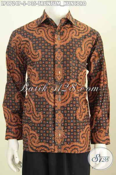 Baju Batik Klasik Halus Motif Truntum Kuncoro, Pakaian Batik Solo Klasik Proses Printing Hanya 135 Ribu, Size S