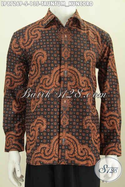 Batik Hem Solo Halus, Busana Lengan Panjang Elegan Motif Klasik Printing Truntum Kuncoro, Hanya 135K Ukuran S