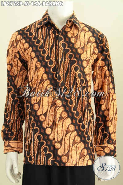 Jual Hem Batik Parang Klasik, Kemeja Batik Printing Solo Elegan Berkelas, Pas Untuk Kondangan Dan Acara Resmi Serta Buat Rapat Tampil Berkarkater [LP8728P-M]