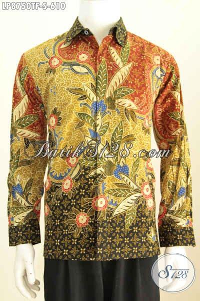 Sedia Kemeja Batik Mewah Untuk Pria Muda, Baju Batik Tulis Full Furing Lengan Panjang Bahan Adem Untuk Rapat Dan Acara Resmi 600 Ribuan, Size S