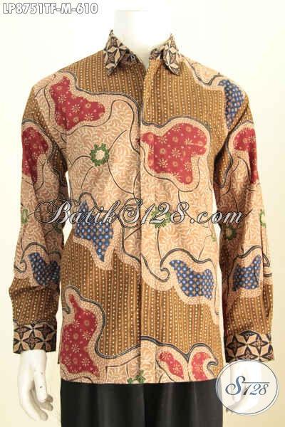 Hem Batik Premium Lengan Panjang Size M Full Furing, Baju Batik Klasik Istimewa Buatan Solo Asli Proses Tulis, Di Jual Online 610 Ribu