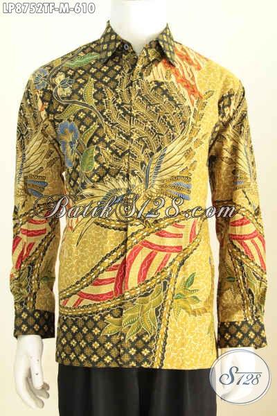 Hem Batik Tulis Premium Full Furing Lengan Panjang 610K, Bahan Halus Motif Berkelas, Bikin Penampilan Gagah Berwibawa [LP8752TF-M]