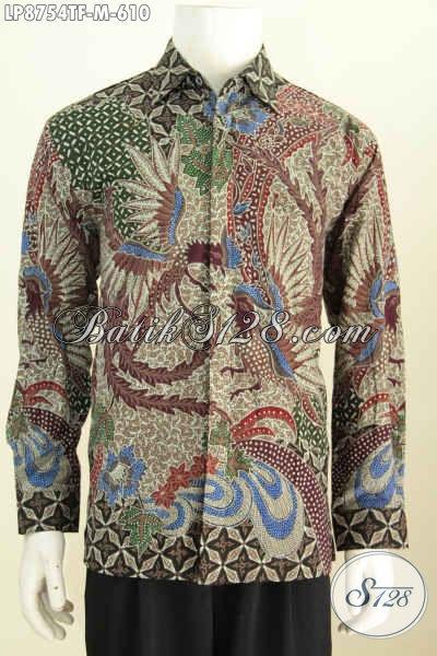 Pakaian Batik Solo Modern Motif Klasik Mewah Tulis Asli Bahan Adem Full Furing Lengan Panjang Harga 610K [LP8754TF-M]