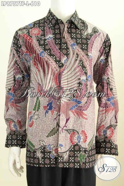 Jual Baju Batik Lengan Batik Lengan Panjang Online, Hem Batik Mewah Full Furing Motif Tulis Asli, Cocok Untuk Pejabat Dan Eksekutif [LP8757TF-L]