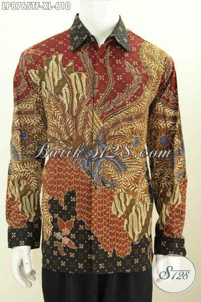 Sedia Baju Batik Lengan Panjang Buat Rapat Dan Acara Resmi, Baju Batik Klasik Premium Proses Tulis Daleman Full Furing 600 Ribuan, Size XL