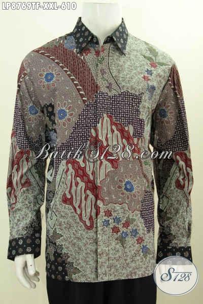 Hem Lengan Panjang Mewah, Baju Batik Premium Pejabat Size XXL, Motif Klasik Tulis Asli Harga 610K Daleman Full Furing