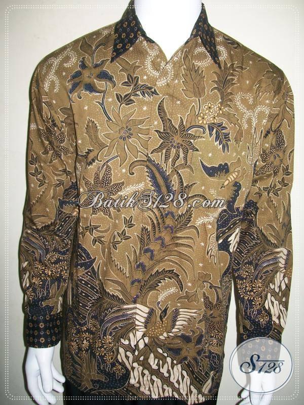 Kemeja Batik Lengan Panjang Elegan, Batik Tulis Mewah Eksklusif