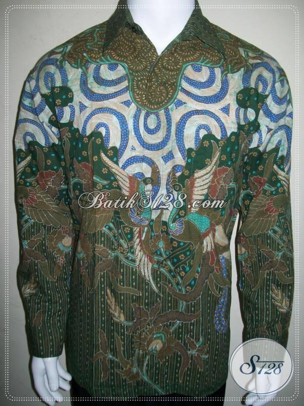 Baju Batik Lengan Panjang Pria Size L