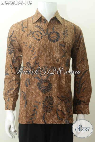 Batik Hem Lengan Panjang Klasik, Baju Batik Elegan Bikin Penampilan Lebih Berwibawa, Proses Kombinasi Tulis 100 Ribuan [LP8960BT-S]