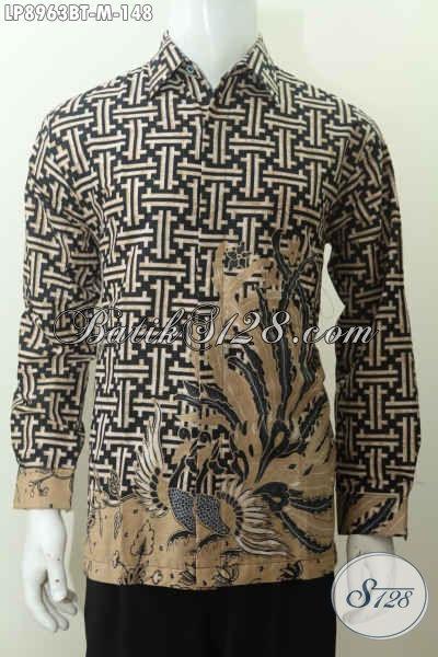 Batik Hem Halus Lengan Panjang Motif Keren Dan Elegan Proses Kombinasi Tulis, Bikin Penampilan Lebih Tampan [LP8963BT-M]