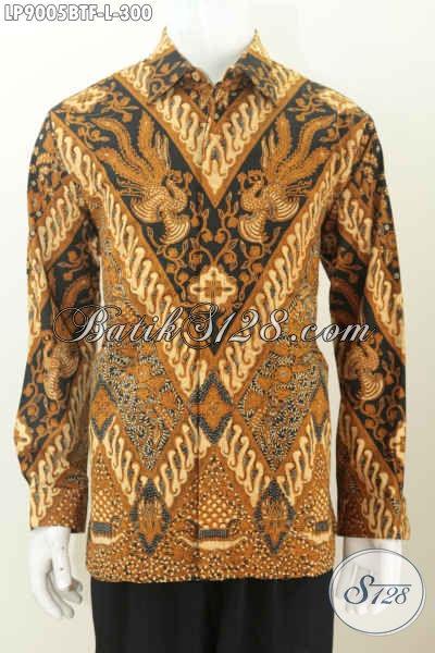 Baju Batik Solo Pria Lengan Panjang, Kemeja Batik Full Furing Motif Klasik Harga 300K, Menunjang Penampilan Lebih Berkelas [LP9005BTF-L]