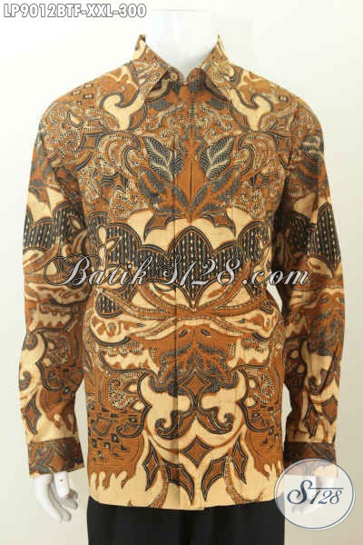 Batik Hem Kombinasi Tulis Lengan Panjang Full Furing Ukuran Jumbo Bahan Halus Motif Klasik 300K