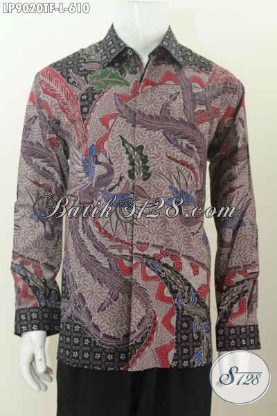 Pusat Baju Batik Premium Online, Sedia Kemeja Lengan Panjang Istimewa Full Furing Motif Klasik Bahan Halus Hanya 600 Ribuan [LP9020TF-L]