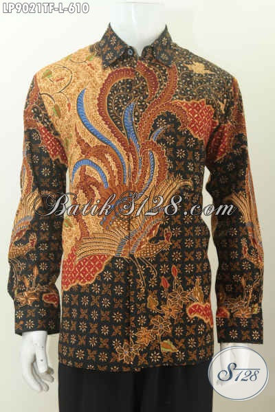 Agen Baju Batik Premium Solo Paling Up To Date, Jual Kemeja Lengan Panjang Pejabat Motif Tulis Asli Full Furing, Tampil Gagah Harga 610K [LP9021TF-L]