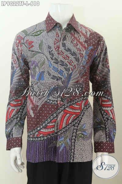 Produk Baju Batik Mewah Solo, Pakaian Batik Berkelas Khas Pejabat Kesukaan Para Eksekutif Untuk Penampilan Lebih Sempurna [LP9022TF-L]