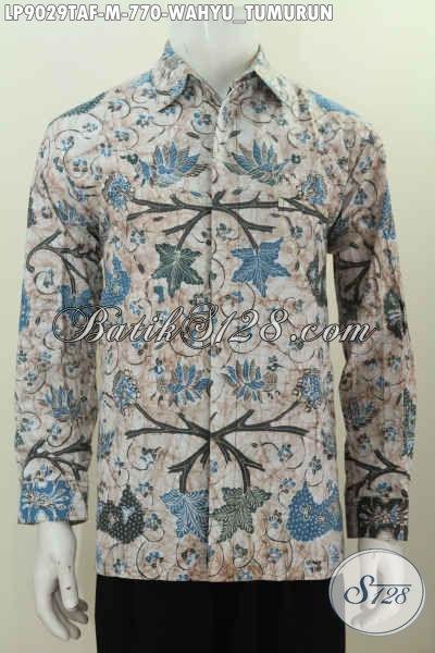 Batik Hem Mewah Klasik, Pakaian Batik Khas Eksekutif Dan Pejabat Motif Wahyu Tumurun Proses Tulis Warna Alam, Model Lengan Panjang Full Furing [LP9029TAF-M]