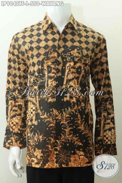 Pusat Baju Batik Premium Online, Sedia Kemeja Batik Tulis Motif Wayang Lengan Panjang Full Furing, Pas Banget Buat Acara Formal [LP9042TF-L]