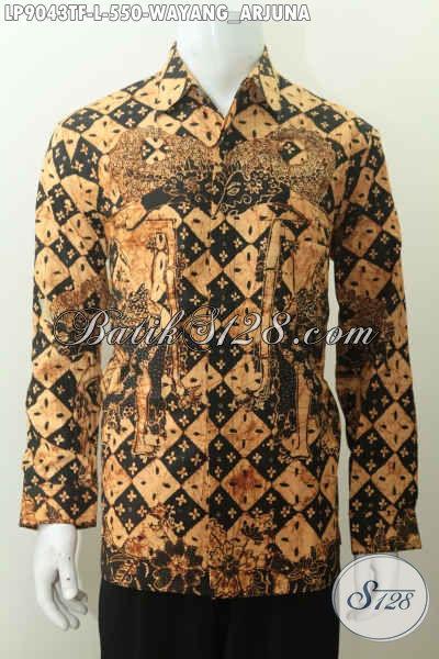 Toko Pakaian Batik Premium Online, Sedia Produk Batik Lengan Panjang Mewah Terbaru Motif Wayang Arjuna Full Furing Harga 550K [LP9043TF-L]