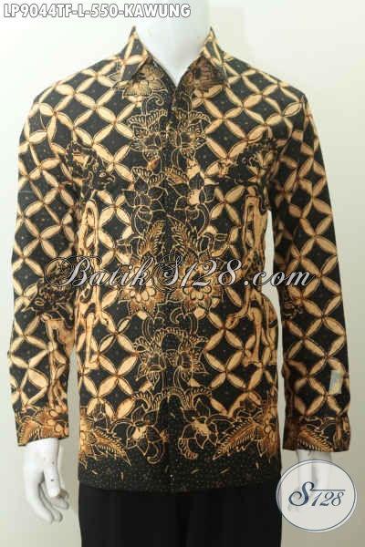 Koleksi Hem Batik Pria Modern, Motif Kawung Proses Batik Tulis Size L Harga 550K