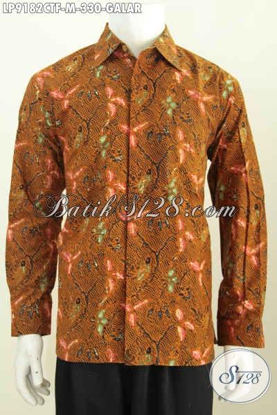 Model Baju Batik Resmi Pria Lenga Panjang, Kemeja Batik Full Furing Halus Motif Galar Proses Cap Tulis Harga 330K [LP9182CTF-M]